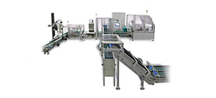 Automatic line for packing capsules